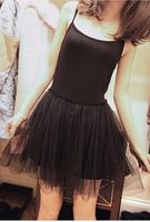 Autumn and winter women modal spaghetti strap basic yarn skirt princess vest jumpsuit slip