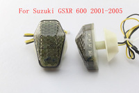Flush mount LED Turn Signals For Suzuki GSXR 600 2001 2002 2003 2004 2005 Smoke motorcycle signals