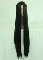 100cm Long ONE PIECE-Boa Hankokku Black Cosplay Costume Wig