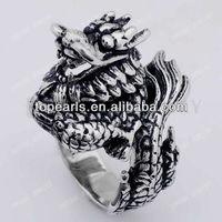 Free Shipping! 3pcs Biker Ring Jewelry Dragon Stainless Steel Ring MER19