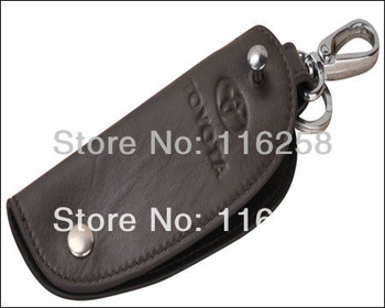 Free shipping. Genuine Leather Men Gift Set keychain bag,Fashion design Leather keychain bag