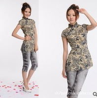 2014 new cheongsam Chinese national wind tang suit summer wear coat dress /free shipping