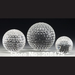 Wedding Sounivers Crystal Golf ball ,Crystal Baseball with Diameter 60mm for Gifts(China (Mainland))