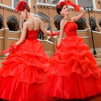 princess wedding dress wedding dress new arrival  red wedding dress