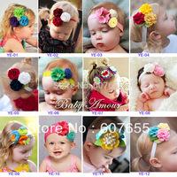 20pcs/lot BABY Flower Headband,Baby Hairband,Kids Flower Hair Accessories,Children Flower Elastic Headband