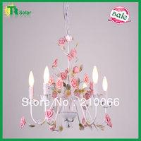 Rose Flower Lighting Freeshipping Fashion Modern Wrought Iron  Lights Ceiling Lamp Bedroom Livingroom