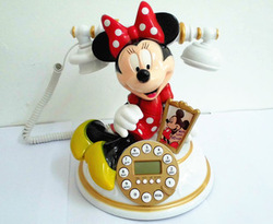 Free shipping Cartoon telephone MICKEY kxt-881cd ofhead none radiation novelty caller id(China (Mainland))