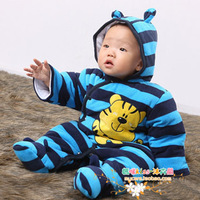 Winter bodysuit outerwear baby cotton-padded jacket newborn baby clothes newborn clothes autumn and winter cotton-padded jacket