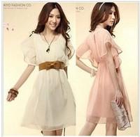 Free shipping 2013 new color restoring ancient ways round collar show thin ruffled silk chiffon skirt