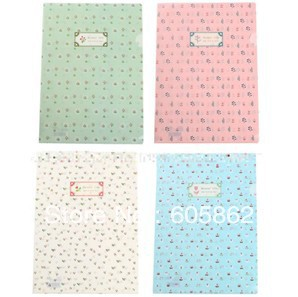 New sweet national life flower series documents A4 file bag / stationery A0165(China (Mainland))