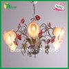 Free Shiping E14*6 Lighting Modern Wrought Iron Lighting Chandelier Lamp for living room, dinner room,  bedroom& study room