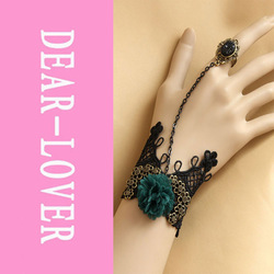 Angel Wings Lace Bracelet with Ring LC0860+ Cheaper price + Free Shipping Cost + Fast Delivery(China (Mainland))