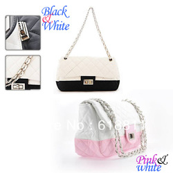 Dust free dustproof black and white non-woven shoulder bag retro style chain bag(China (Mainland))