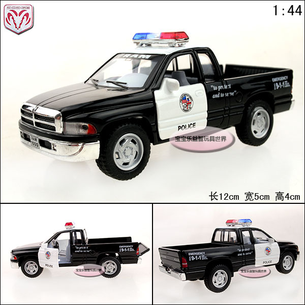 1:44 Dodge Picard's cool police car alloy car model free air mail