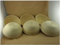 Promotion Backing Mold  Round Bread Proofing Basket for Dough Natural Rattan Basket 22cm 6pcs/lot Banneton Brotform Freeshipping