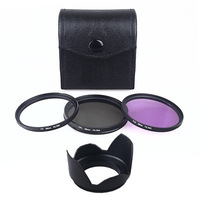 Filter Kit 72mm CPL UV FLD Fit Flower Lens Hood for Canon EOS 650D 550D 1100D digital camera free shipping+tracking number