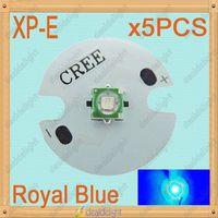 Freeshipping! 5PCS Cree XLamp XPE XP-E 1W 3W Royal Blue 450nm-455nm LED Light Emitter Bulb with16mm UFO PCB For Plant Grow