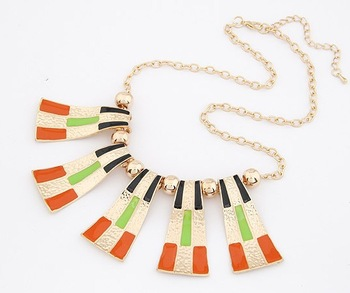 Statement Necklace 2013 New Product  Colorful Metal Enamel Statement  Chocker Necklace For Women Free Shipping.OY13031804