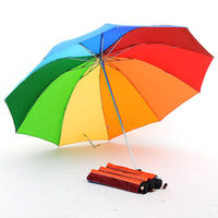 3918 umbrellas three fold umbrella 10 stsrhc plus size rainbow umbrella