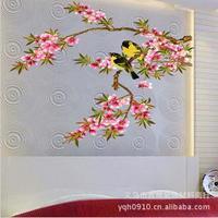 2014 New Plum Plossom Birds Home Decor Wall Art Decal Wall Sticker