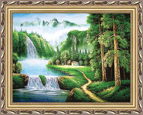 Goblen duvar asma sanat kumaş resmi güzel manzara resim süsleme