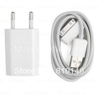 Power Adapter & USB Charging Cable for iPhone 4 (White)