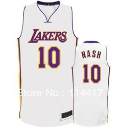 Los Angeles #10 Steve Nash Basketball sports Jersey,High Grade name brand Embroidery logos freeshipping(China (Mainland))