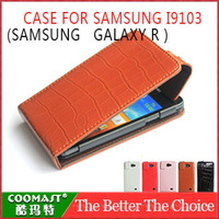 Free shipping 1PCS 100% Original Leather Case For Samsung  I9103 ( GALAXY R ) New Arrivel mobile phone dirt-resistant case