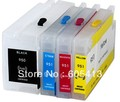 Free shipping  950  951 950xl 951xl with chip empty refillable  cartridge Compatible For hp Officejet Pro 8600 Pro 8100 printer