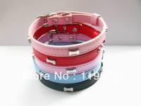 10pcs 300*10mm Copy Leather (have bone on the collar)Pet Dog Cat Collar