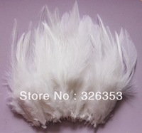 Free shipping 200pcs  White Pheasant Neck Feathers 10-15cm/4-6inche Dress jewelry/Christmas/Halloween decoration