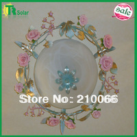 Flower ceiling light E27 Chandelier Lamp for living room dinner room bedroom flower rose pink high quality indoor lamp