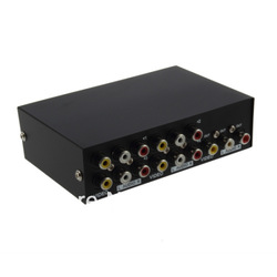High Quality4 Port Input 1 Output Audio Video AV RCA Switch Switcher Selector Box NEW(China (Mainland))