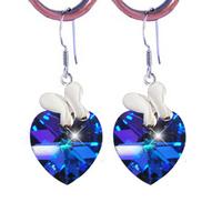 Blue crystal earrings jewelry fragrance jewelry