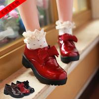 free shipping Sweet single shoes anti-slip soles women's shoes shiny bow platform nurse shoes walking shoes female 35 Sandals