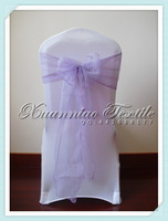 free shipping lilac organza chair  sash/organza chair cover sash/chair bow