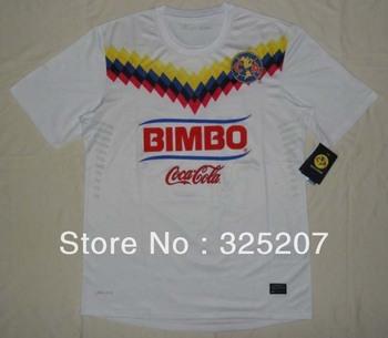 American white 2013-2014 top thai  quality soccer jerseys football sport shirt club unfiroms player version