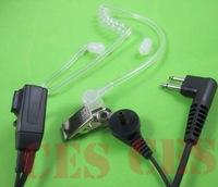 2 PIN Covert Acoustic Tube Earpiece/ earphone for 2-way Radio SP10 SP50 P040 P080 P110 10PCS+Free shipping