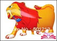 frete grátis grande leão forma balões da folha, forma animal. tamanho 65x50cm(China (Mainland))