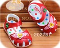 Free shipping baby summer sandals   sheepskin baby shoes, children's sandals