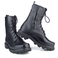 Free Shipping Super-fibre high-leg leather boots male boots single high security men shoes tooling boots