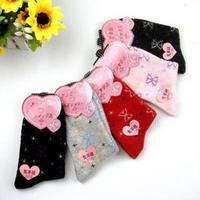Women's socks boneless knee-high socks dot rabbit wool socks thickening 6 double