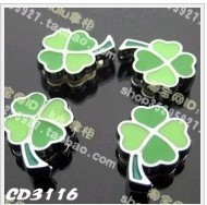 Wholesale 100pcs/lot LUCY four leaf clover Charms Fit Pet collar Wrist band DIY bracelet(China (Mainland))