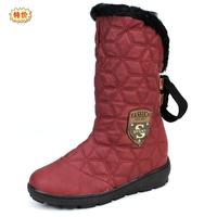 Free Shipping Women's boots wedges rhinestone medium-leg boots boots