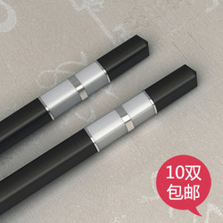 Double 10 quality alloy choptsicks gift chopsticks gift box set(China (Mainland))