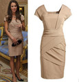 2012 new fashion summer Kate Middleton party dress white and black OL women evening princess dresses retail and wholesale