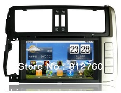 New!!8&quot; Android Car dvd player for Toyota Prado 150 512MB RAM 8GB ROM GPS Navigation, Radio, IPOD+Support Wifi 3G Free shipping!(China (Mainland))