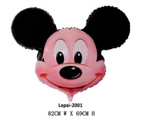 Free shipping 10pcs/lots 32inch Mickey Cartoon balloon , Party decorate balloon ,Big size  82X69cm