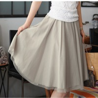 Spring basic 2013 bust skirt gauze skirt women's puff skirt plus size pleated skirt