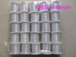 OMH wholesale 25pcs Jewelry Findings &amp; Components CRYSTAL STRING white 100% STRONG &amp; STRETCHY Fish wire elastic line DY11(China (Mainland))